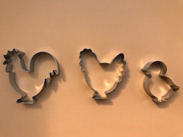 Ausstecher Huhn, Hahn, Küken
