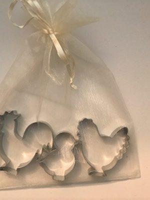 Backformen Hühnerfamilie im Geschenkbeutel
